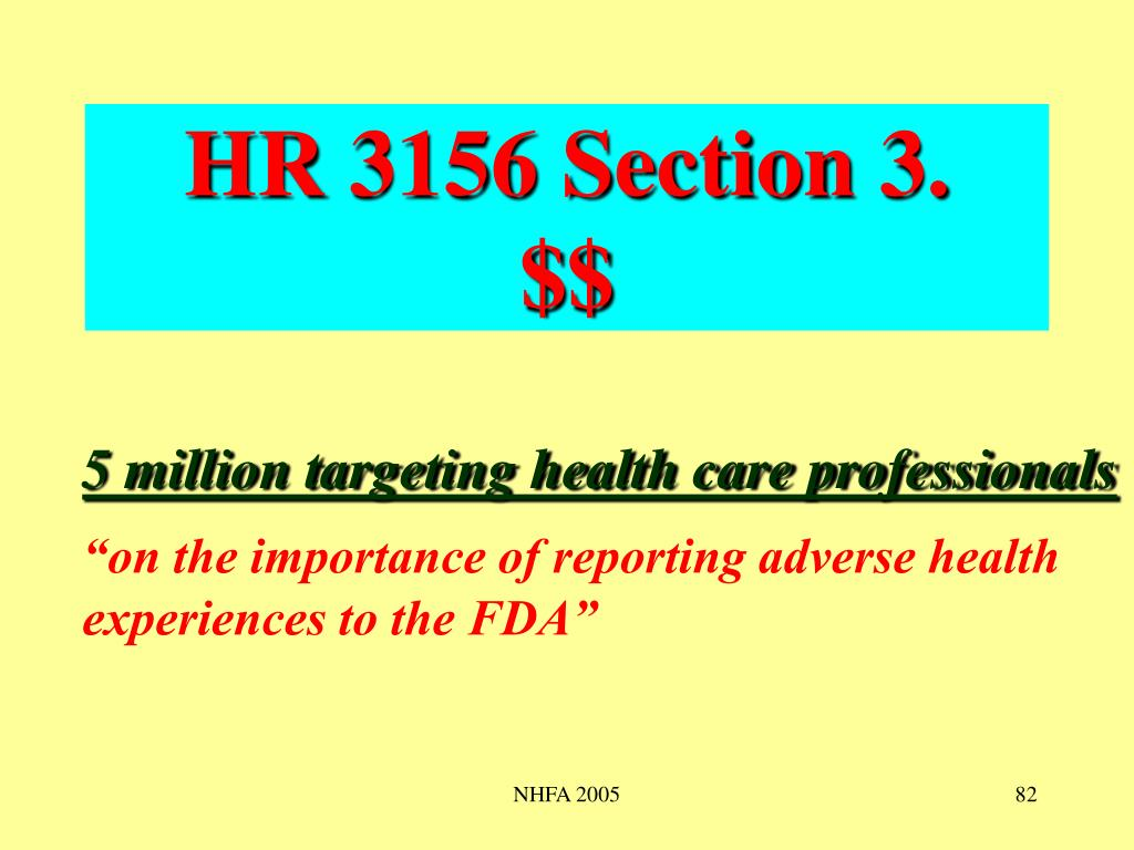 HR 3156 Section 3.    $$