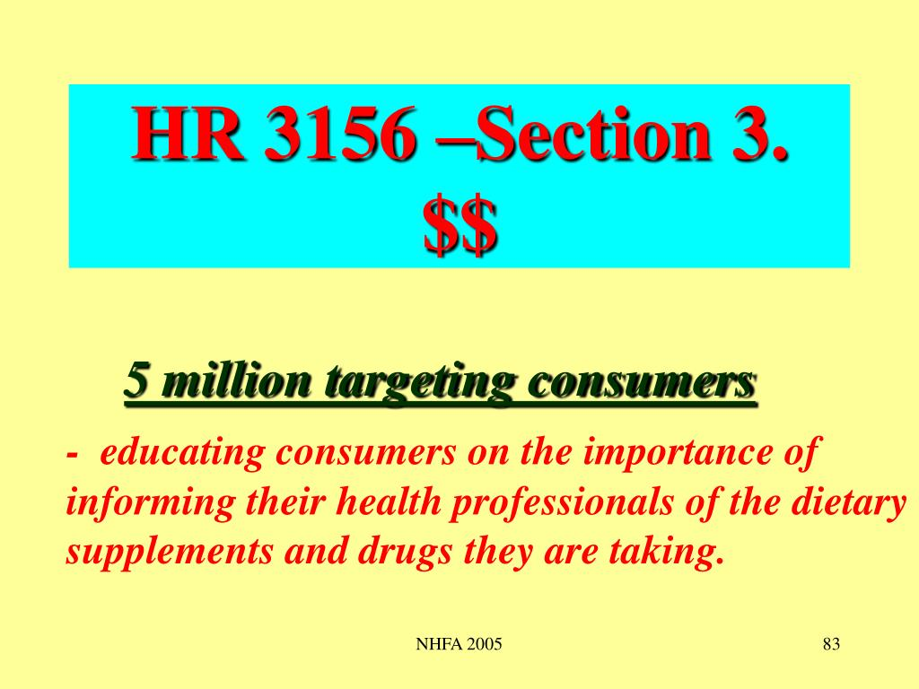 HR 3156 –Section 3.  $$