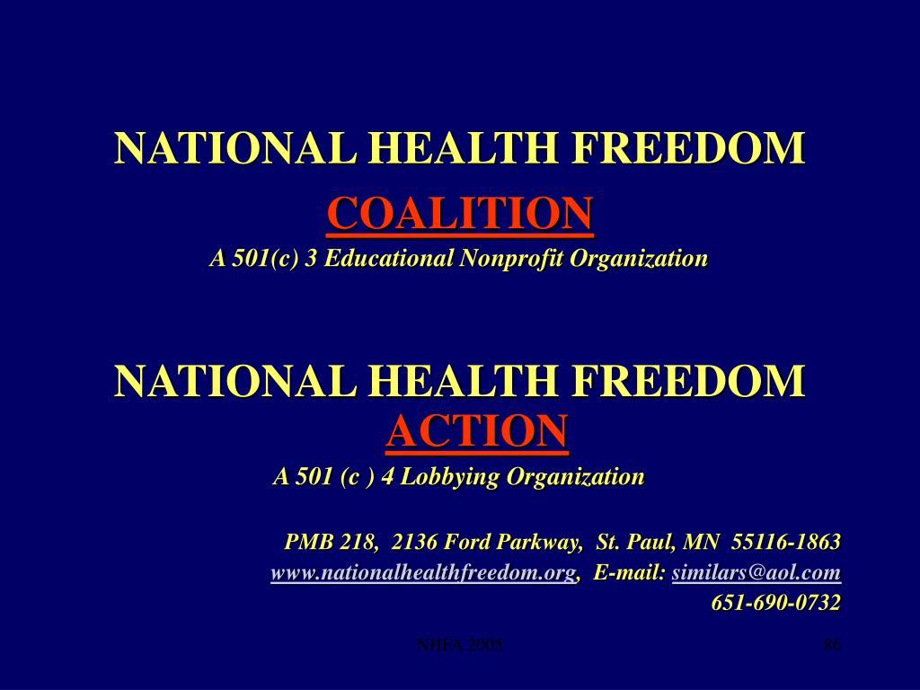 NATIONAL HEALTH FREEDOM