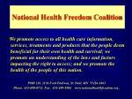 national health freedom coalition
