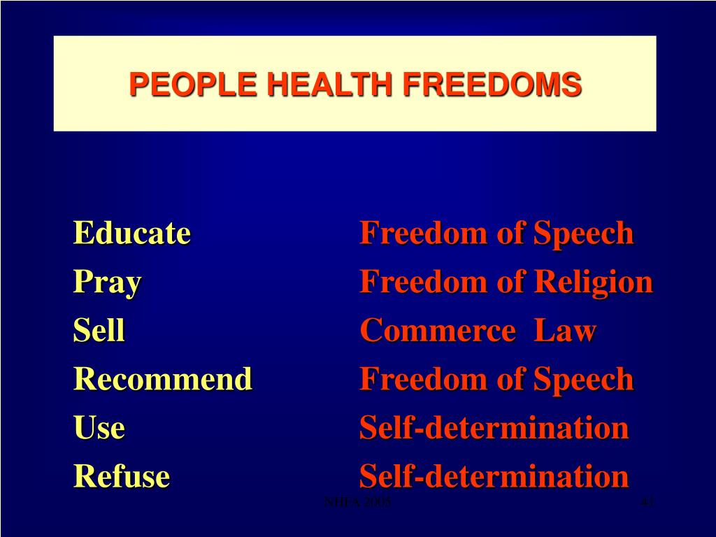 PEOPLE HEALTH FREEDOMS