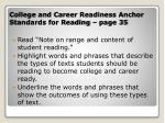 college and career readiness anchor standards for reading page 35