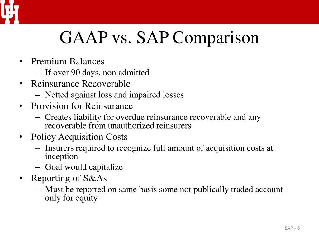 GAAP vs. SAP Comparison