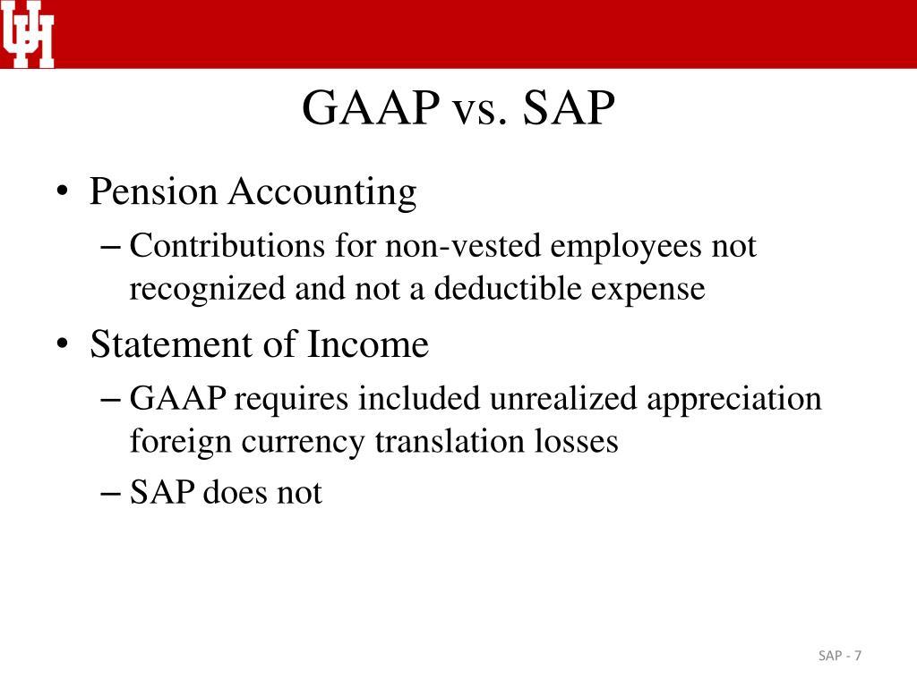 GAAP vs. SAP