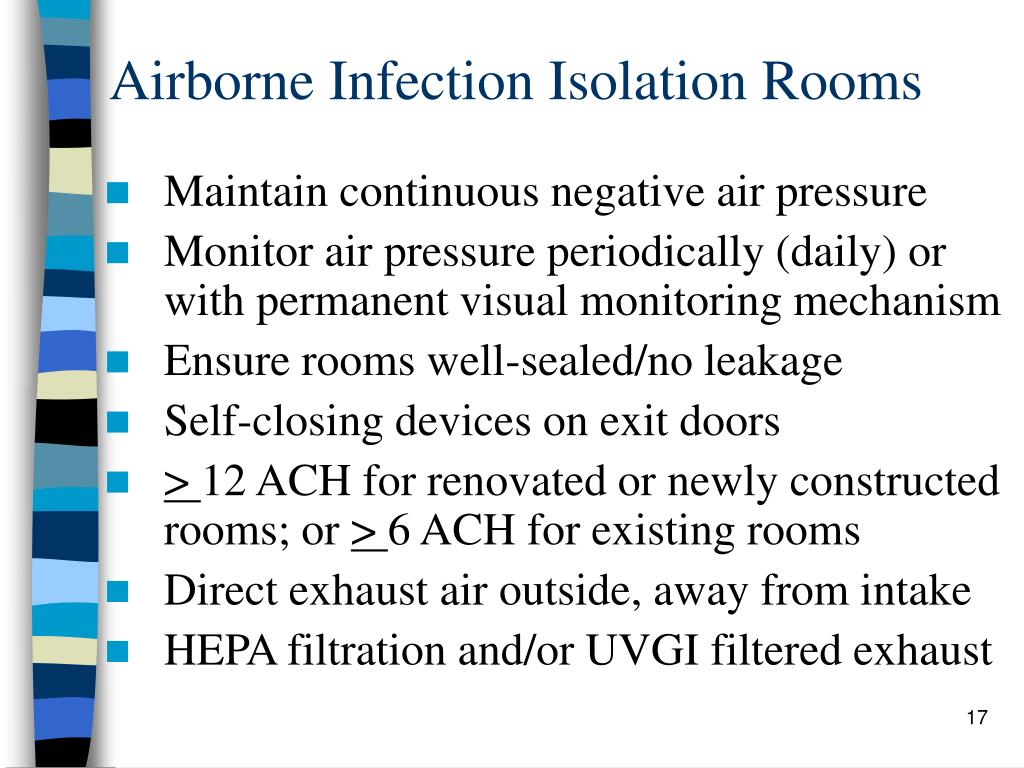 Airborne Infection Isolation Rooms