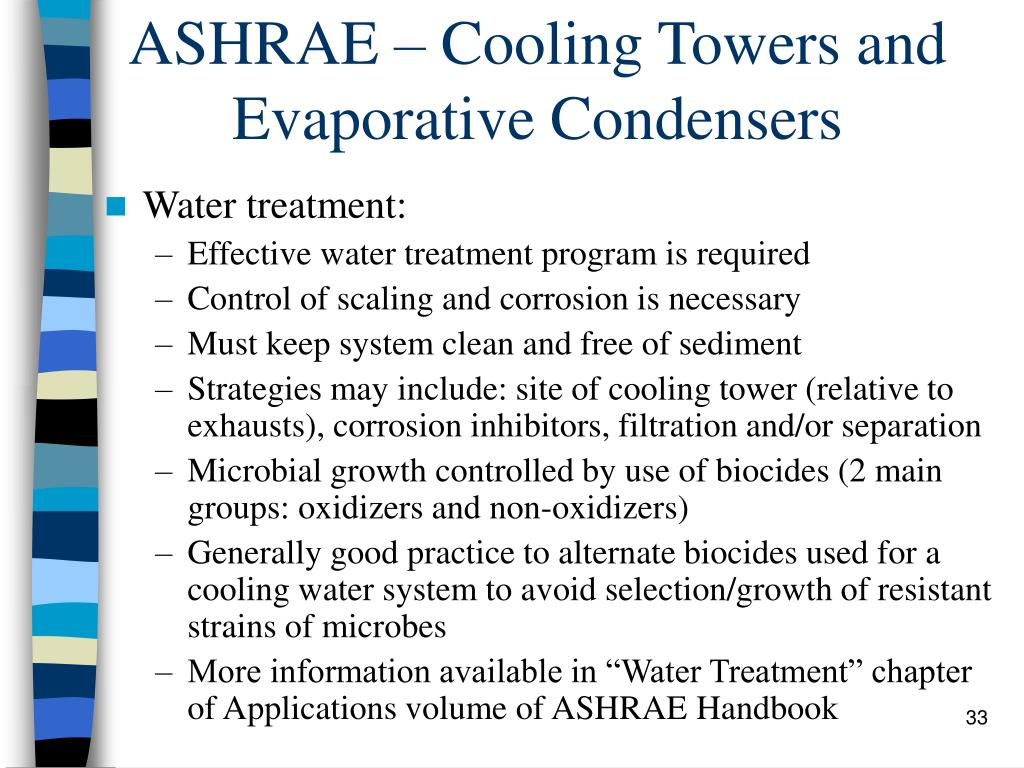 ASHRAE – Cooling Towers and Evaporative Condensers
