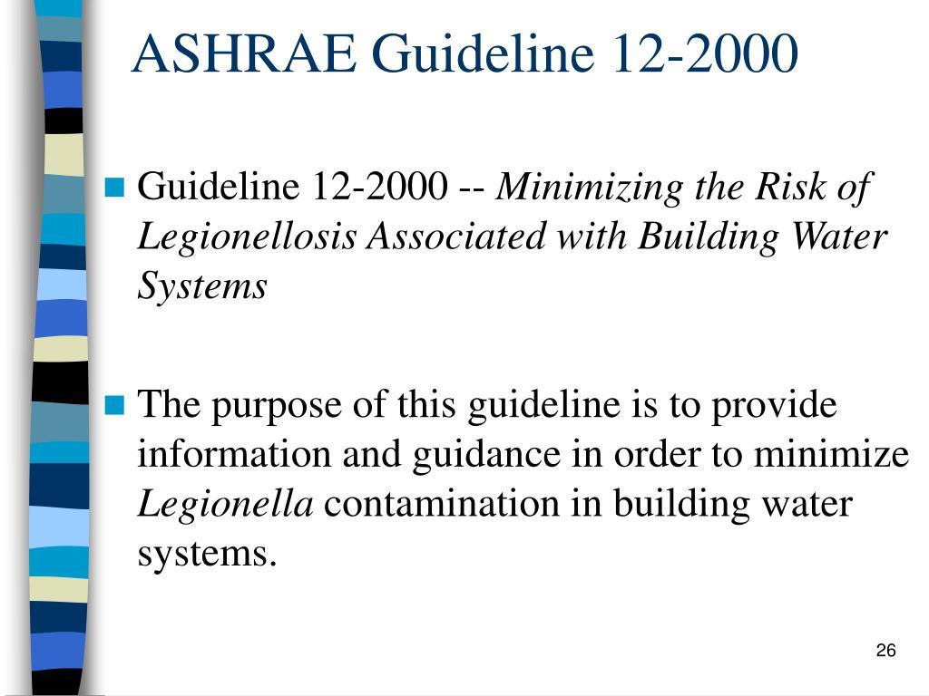 ASHRAE Guideline 12-2000