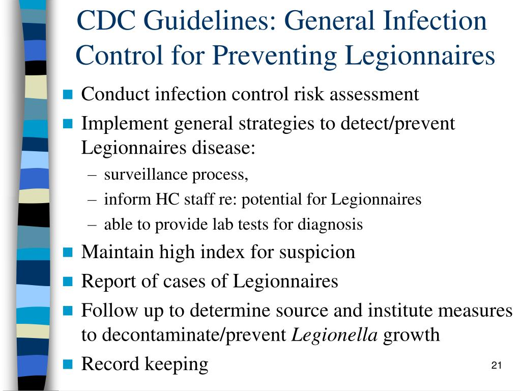 CDC Guidelines: General Infection