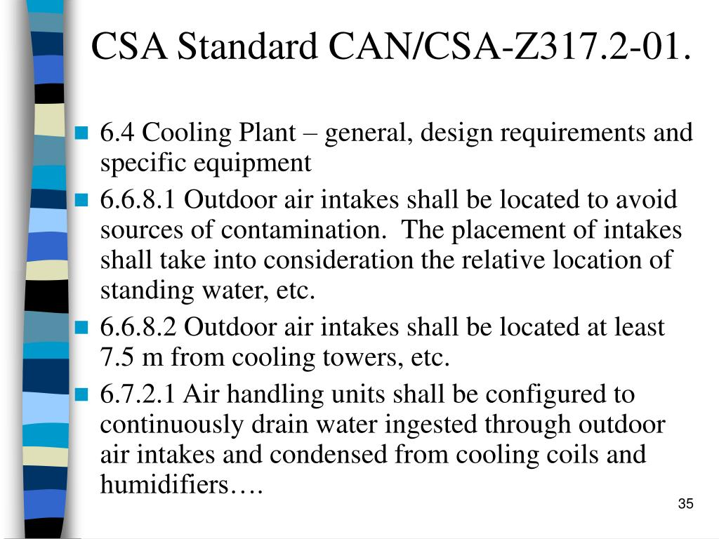 CSA Standard CAN/CSA-Z317.2-01.