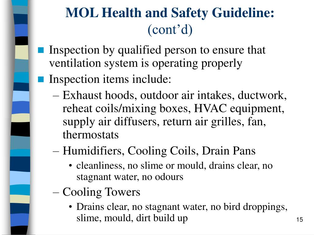 MOL Health and Safety Guideline:
