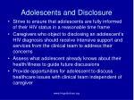 adolescents and disclosure