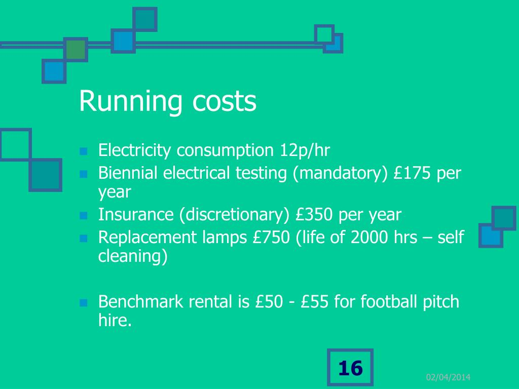 Running costs