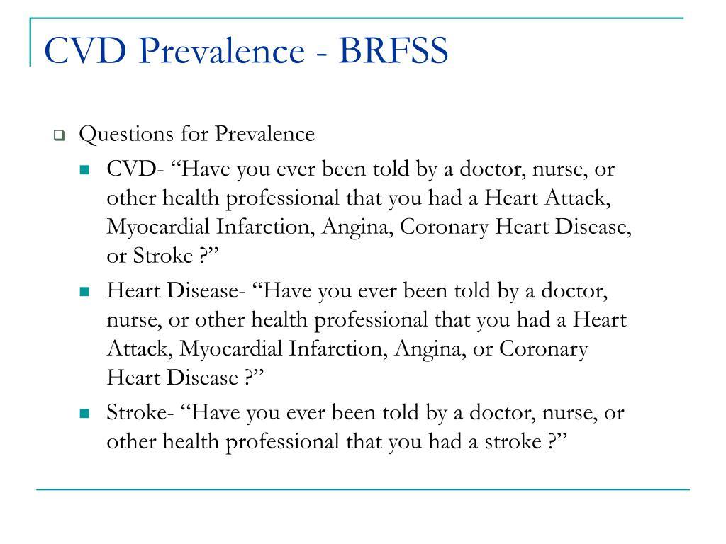 CVD Prevalence - BRFSS