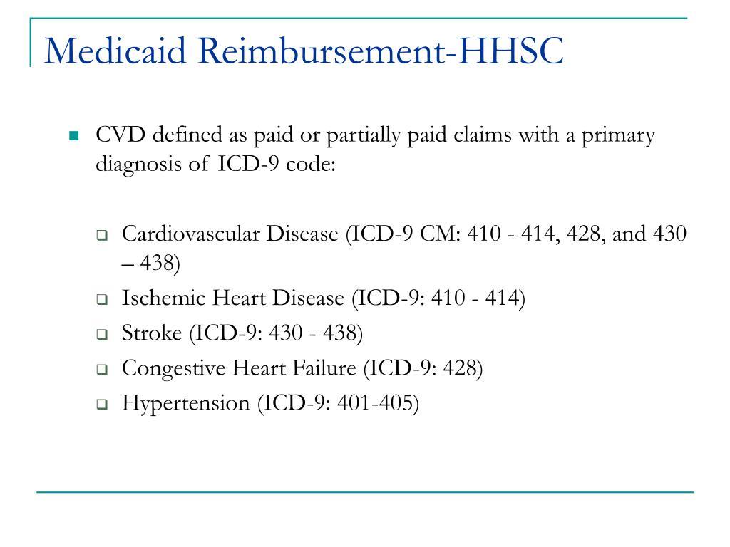 Medicaid Reimbursement-HHSC