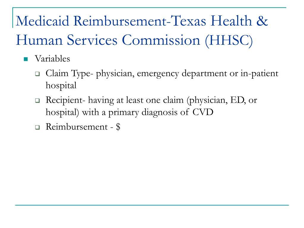 Medicaid Reimbursement-