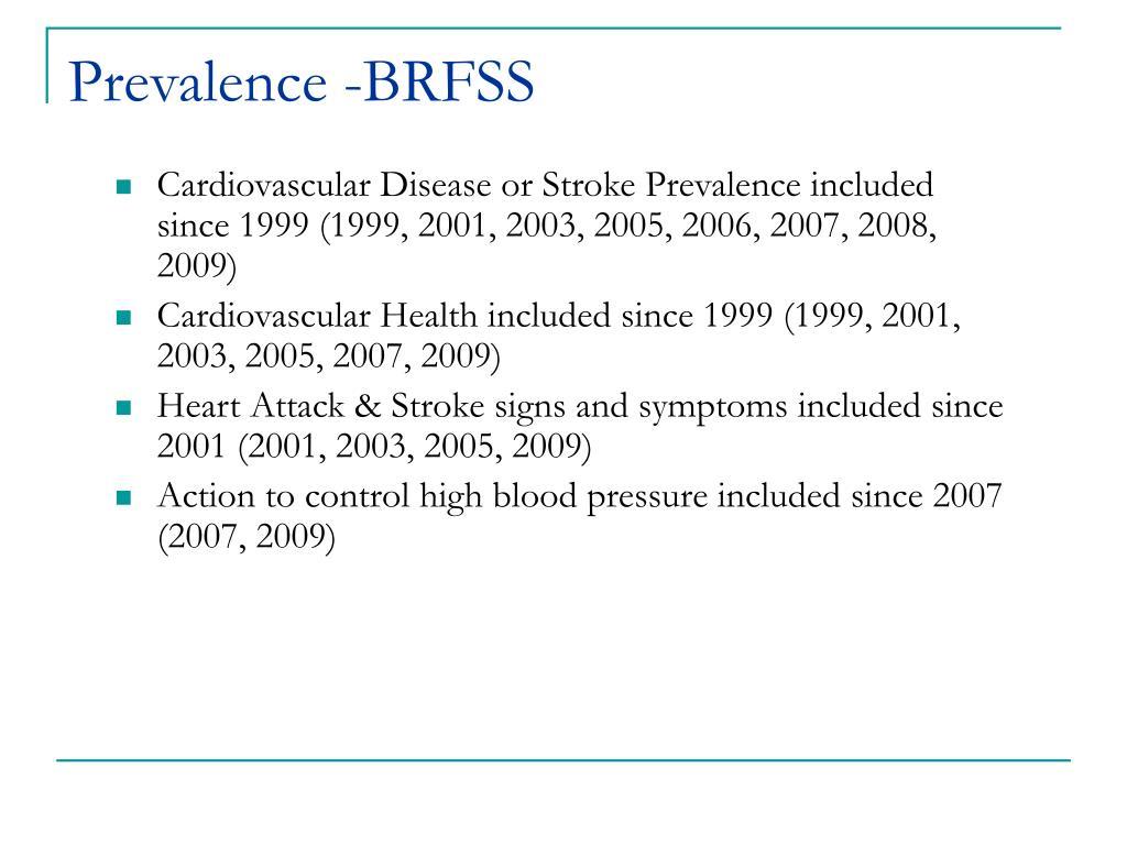 Prevalence -BRFSS