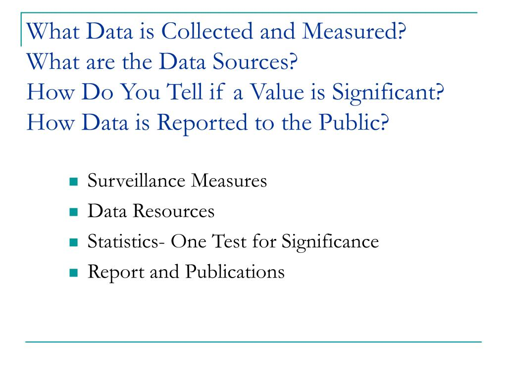 What Data is Collected and Measured?