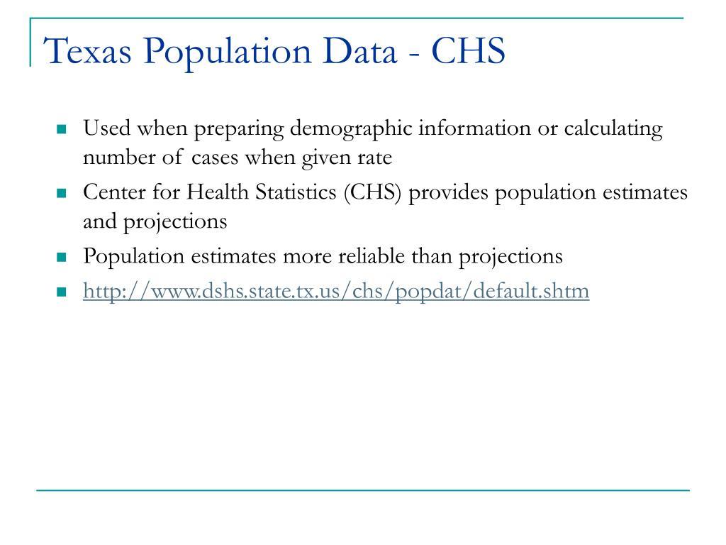 Texas Population Data - CHS