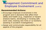 management commitment and employee involvement cont d8