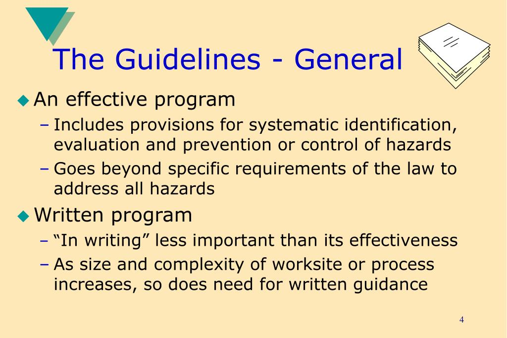The Guidelines - General