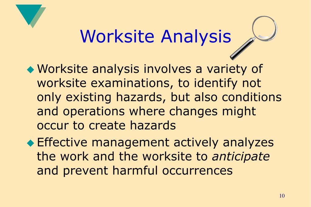 Worksite Analysis