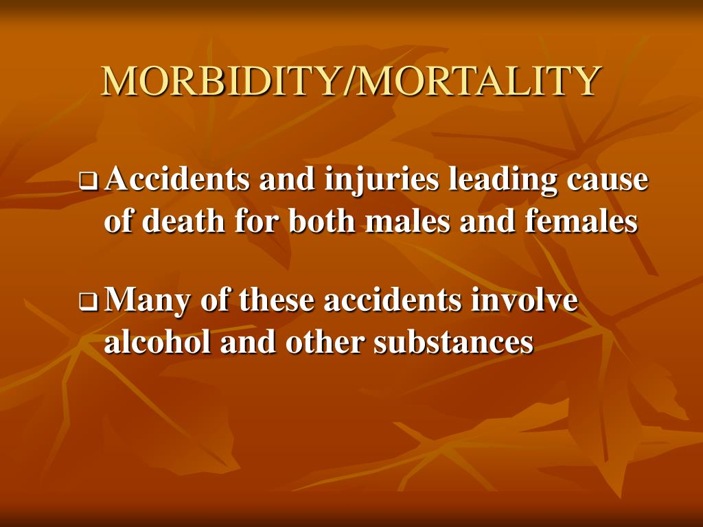 MORBIDITY/MORTALITY