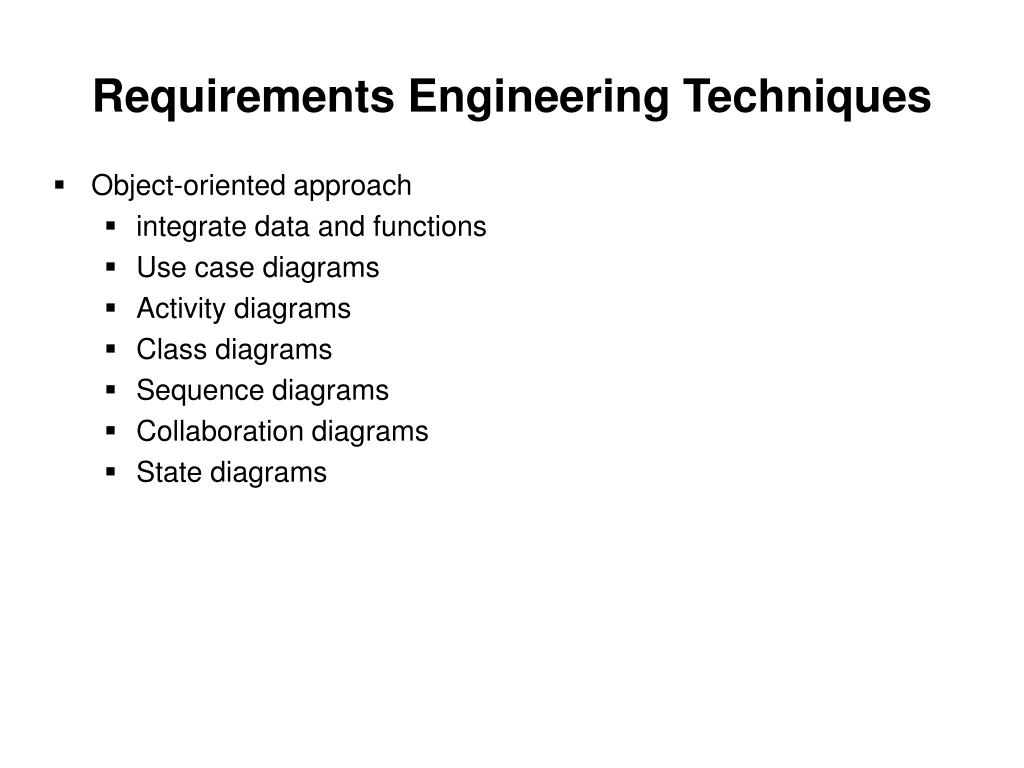 Requirements Engineering Techniques