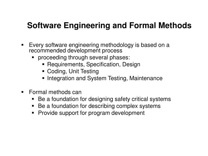 Software engineering and formal methods l.jpg