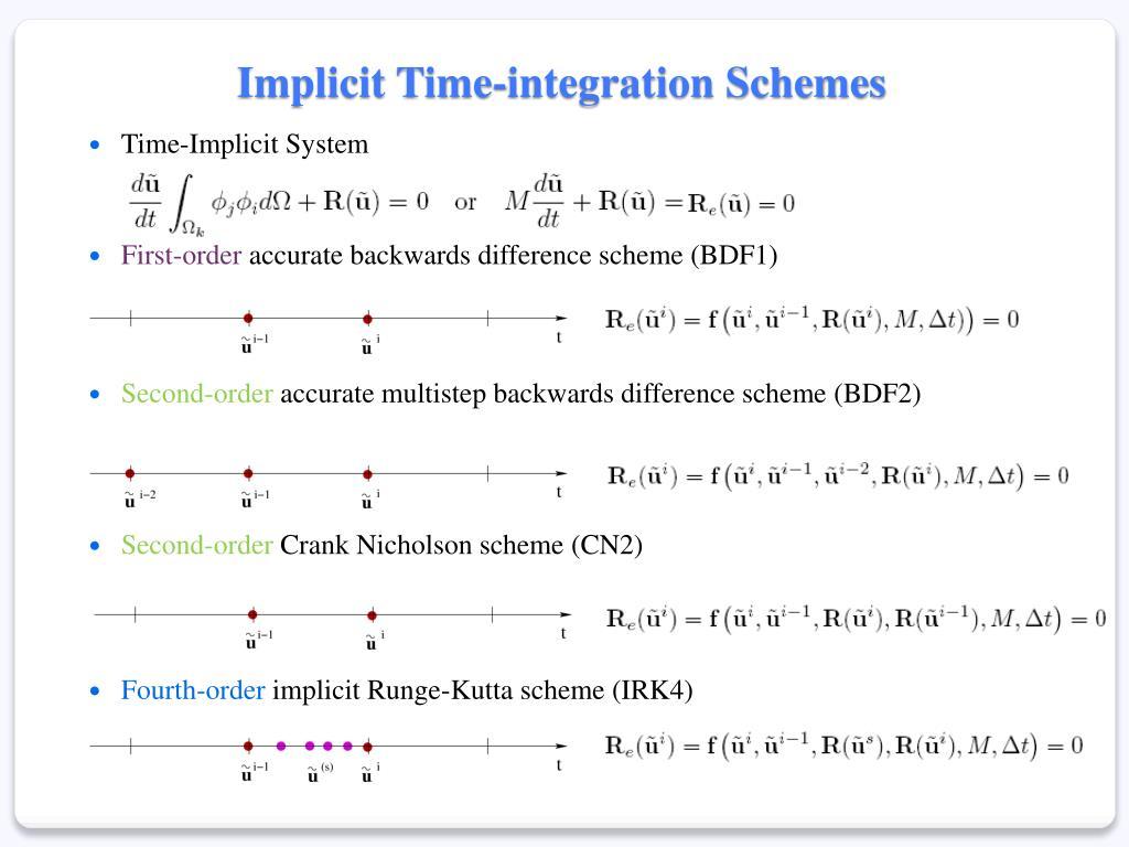 Implicit Time-integration Schemes
