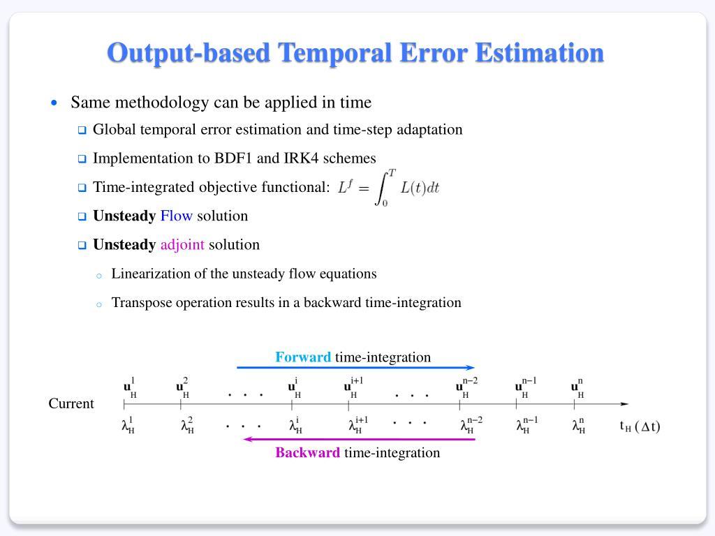 Output-based Temporal Error Estimation