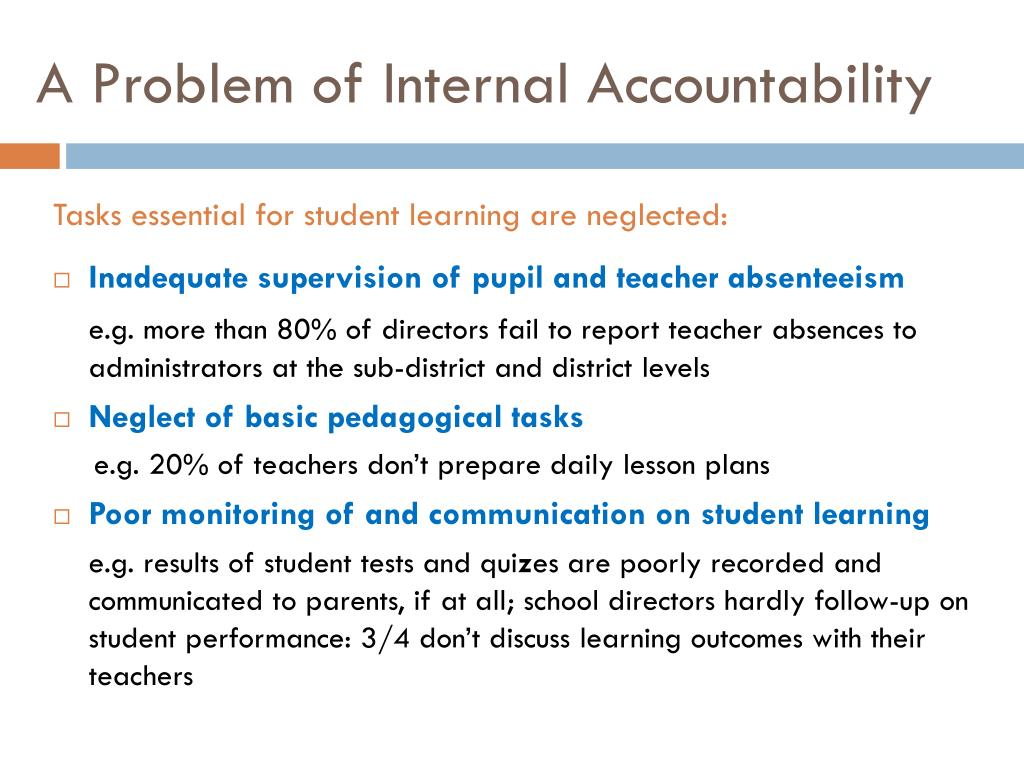 A Problem of Internal Accountability