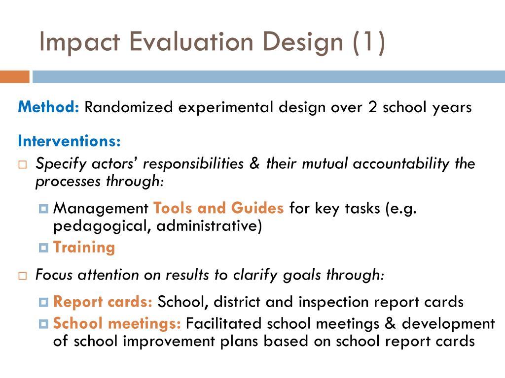 Impact Evaluation Design (1)