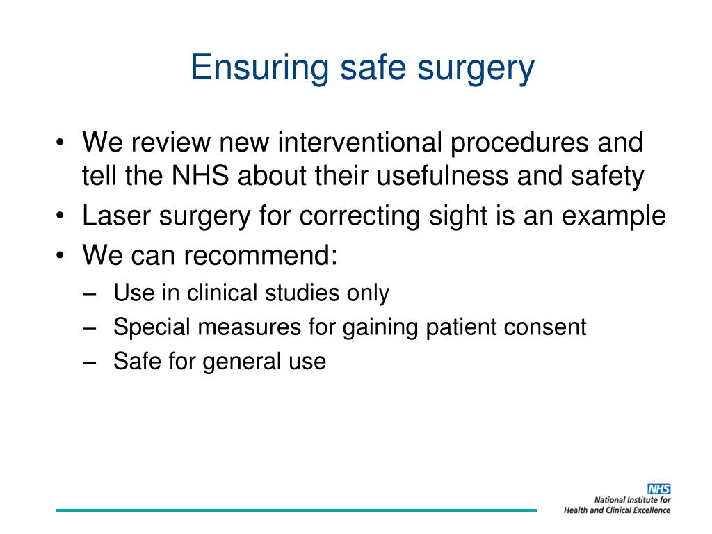Ensuring safe surgery