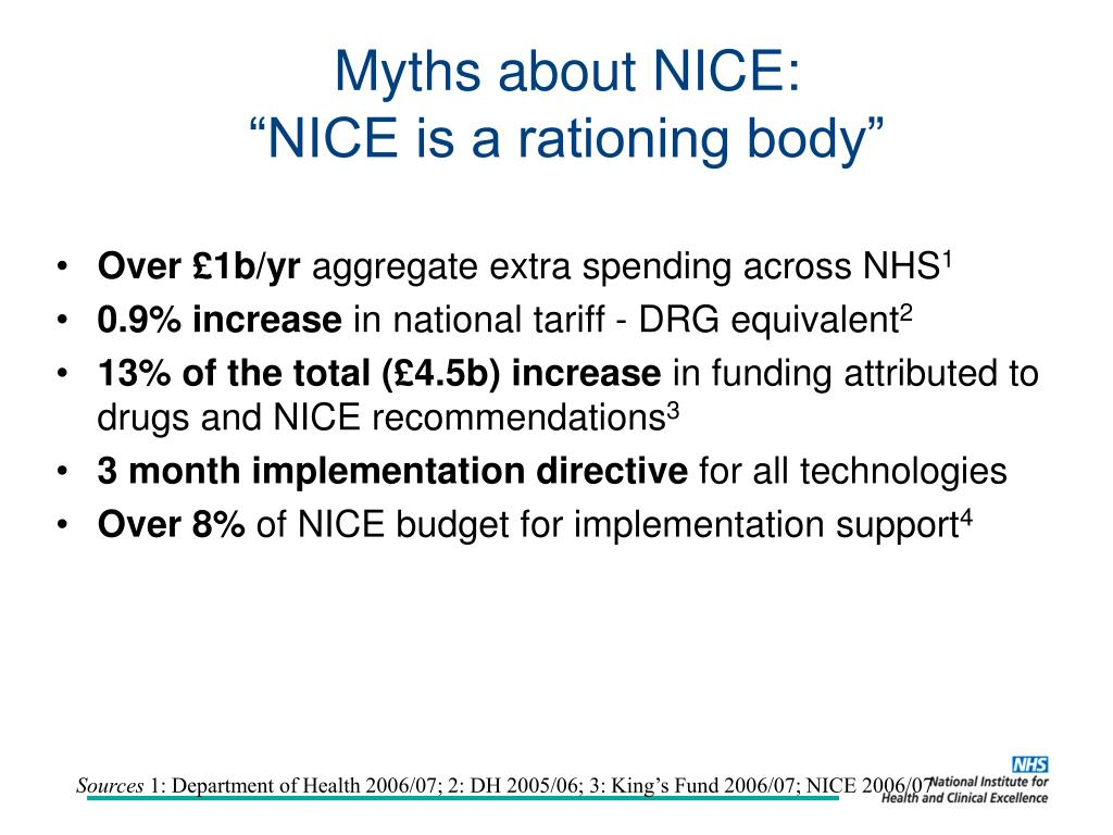 Myths about NICE: