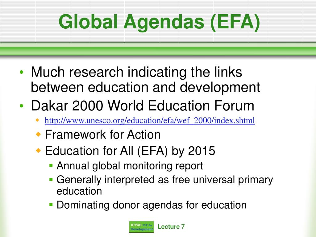 Global Agendas (EFA)