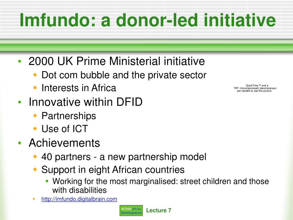 Imfundo: a donor-led initiative