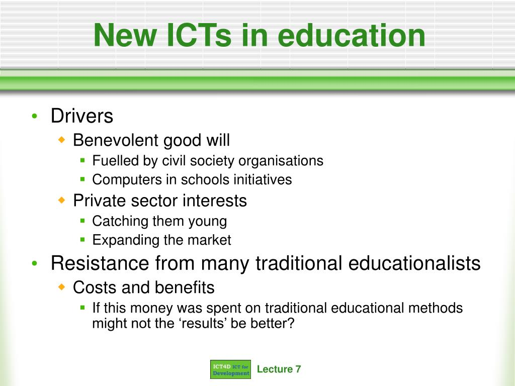 New ICTs in education