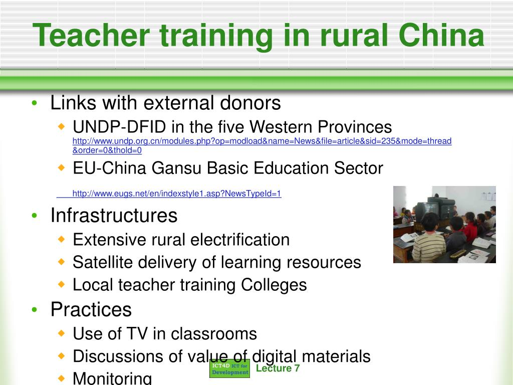 Teacher training in rural China