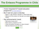 the enlaces programme in chile