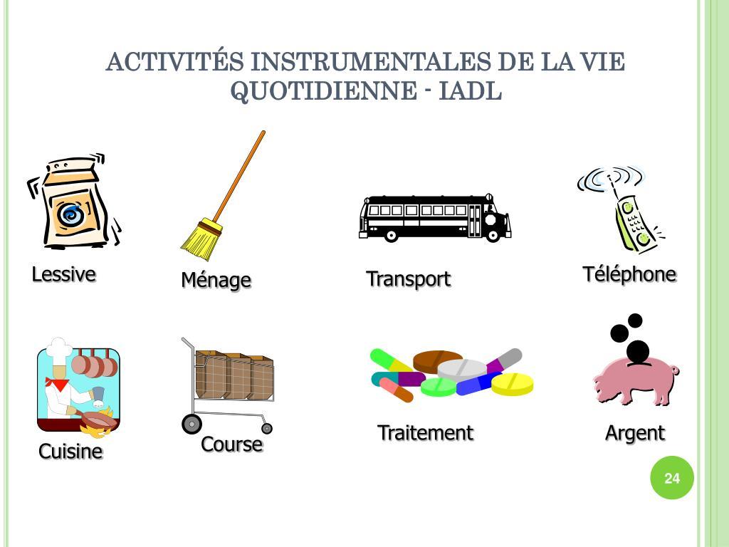 ACTIVITÉS INSTRUMENTALES DE LA VIE QUOTIDIENNE - IADL