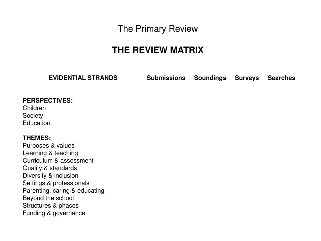 The Primary Review