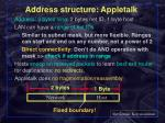 address structure appletalk