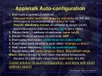 appletalk auto configuration