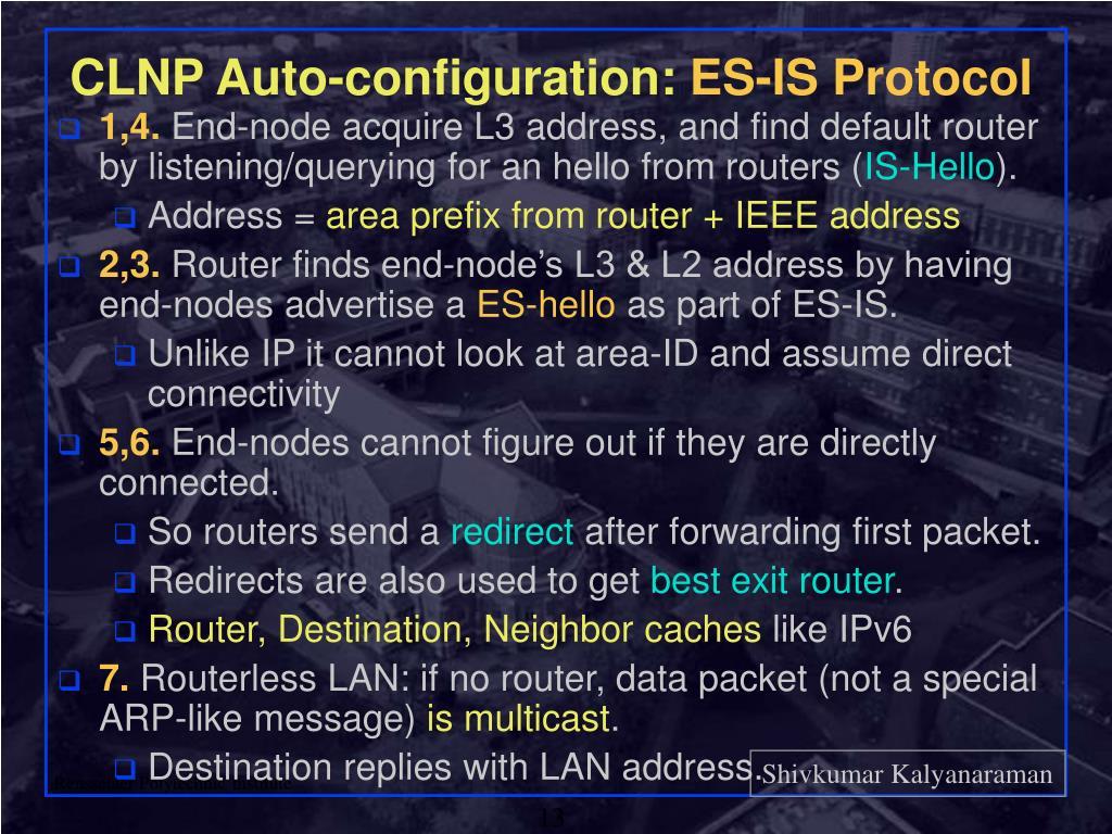 CLNP Auto-configuration: