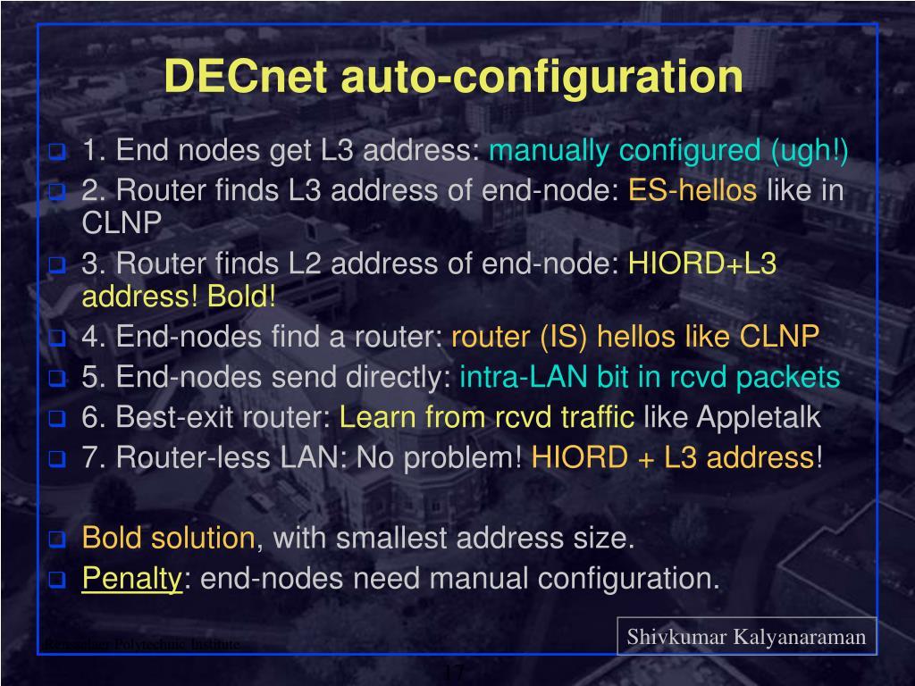 DECnet auto-configuration