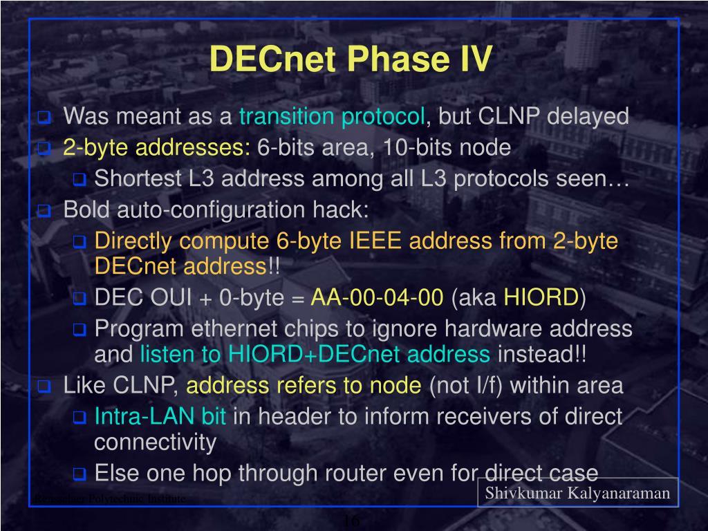 DECnet Phase IV