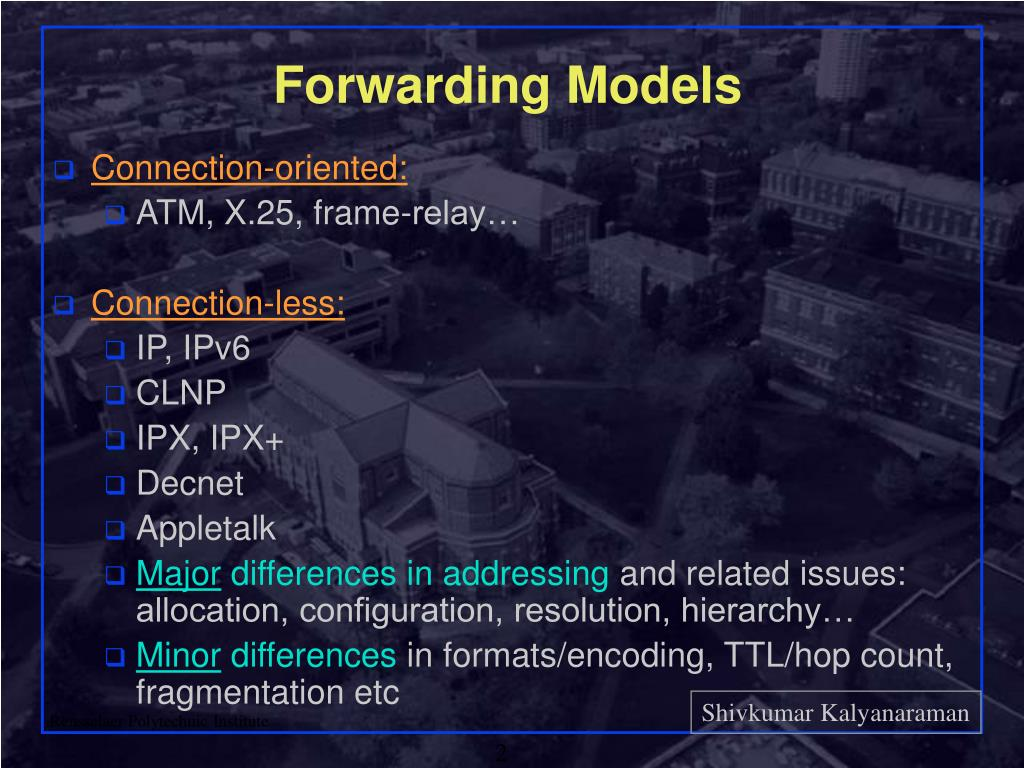 Forwarding Models