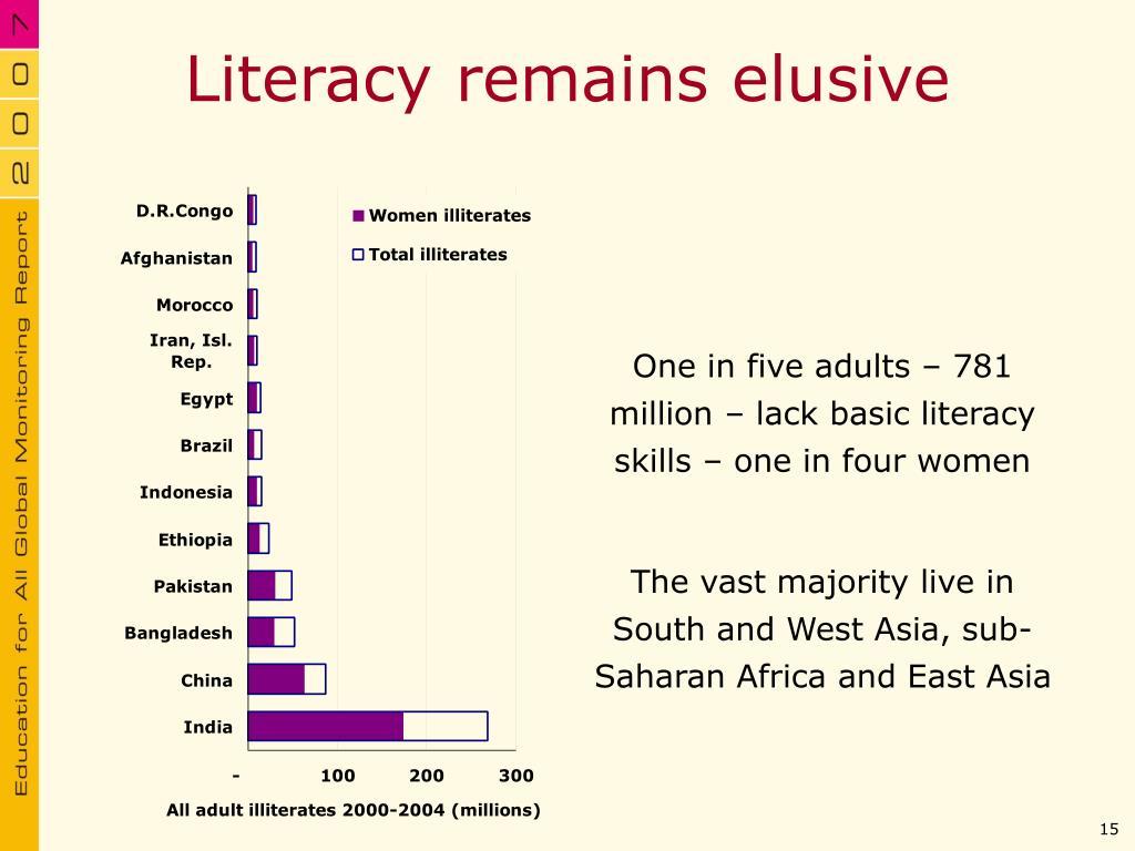 Literacy remains elusive
