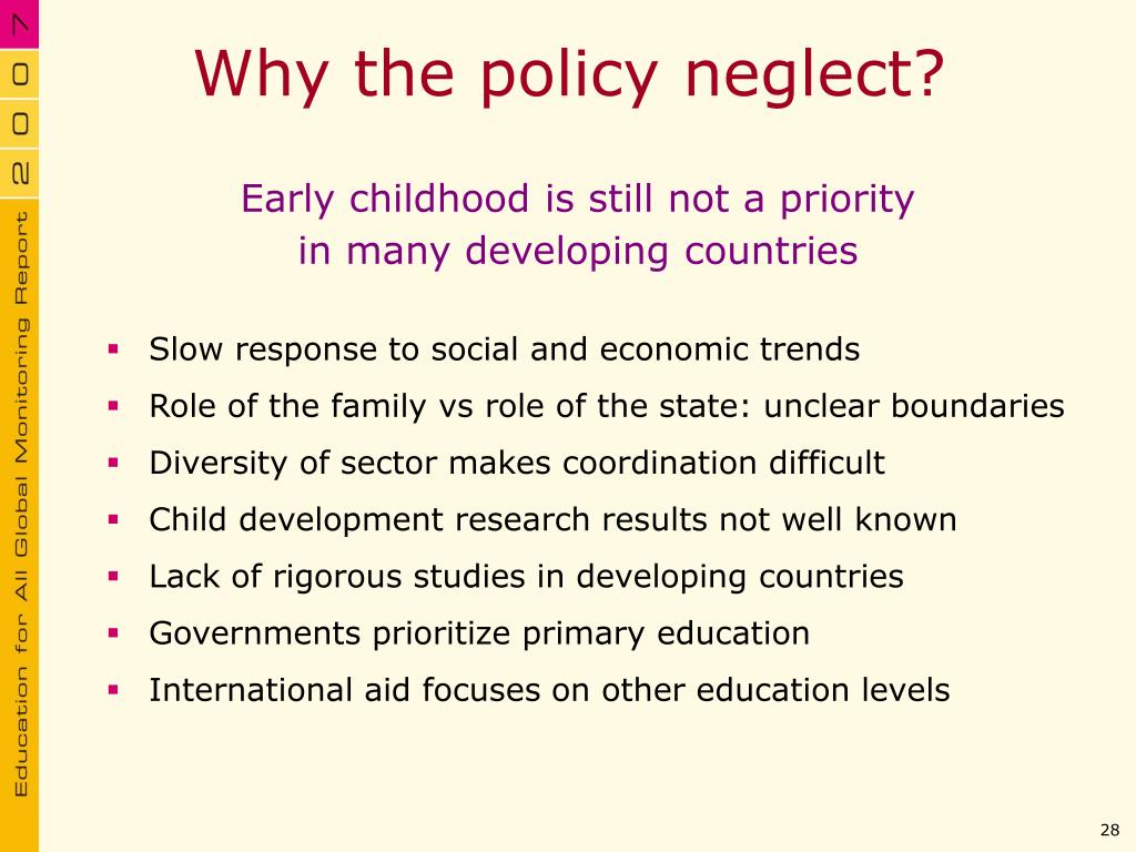 Why the policy neglect?