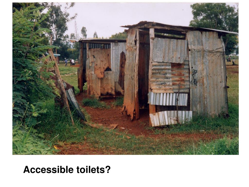 Accessible toilets?